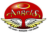 image of logo of Angel's franchise business opportunity Angel's hot dog franchises Angel's ice cream franchising